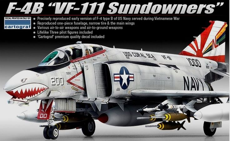F-4B VF-111 Sundowners 1/48 Academy Plastic Model kit