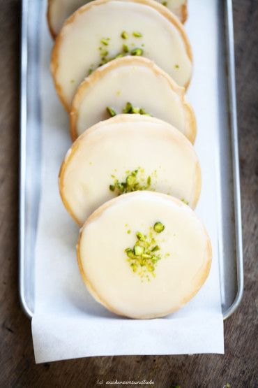 Orange Cookies with Chai Glaze and Pistachios
