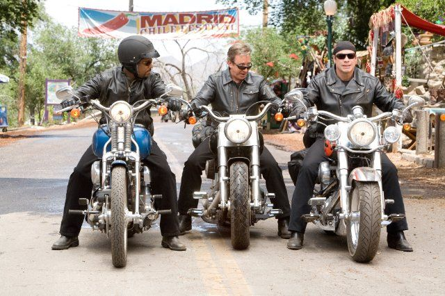 Still of John Travolta, Tim Allen and Martin Lawrence in Wild Hogs (2007)
