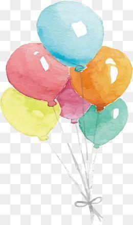 watercolor balloon vector png balloon balloon bundle