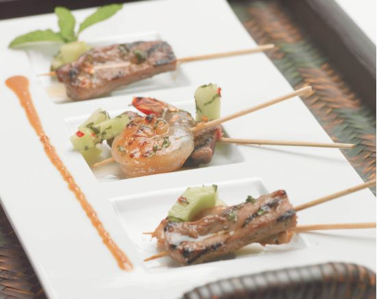 Tamarind Satay with Spicy Peanut Dipping Sauce Recipe from Holland America Cruise Lines