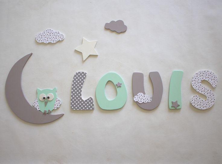 Les 25 meilleures id es concernant noms des lettres en - Lettre decorative pour chambre bebe ...