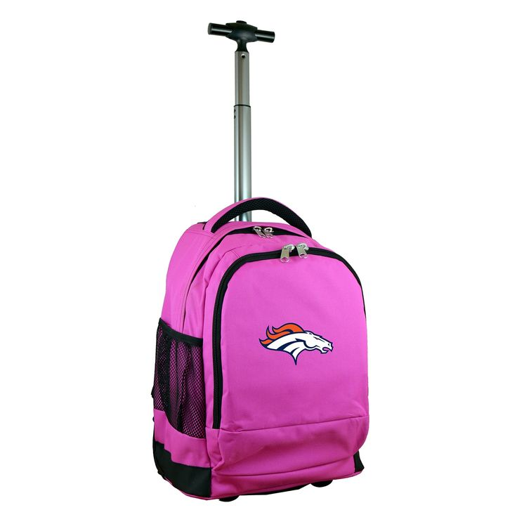 Denco Sports Mojo Denver Broncos Premium 17-inch Wheeled Laptop Backpack