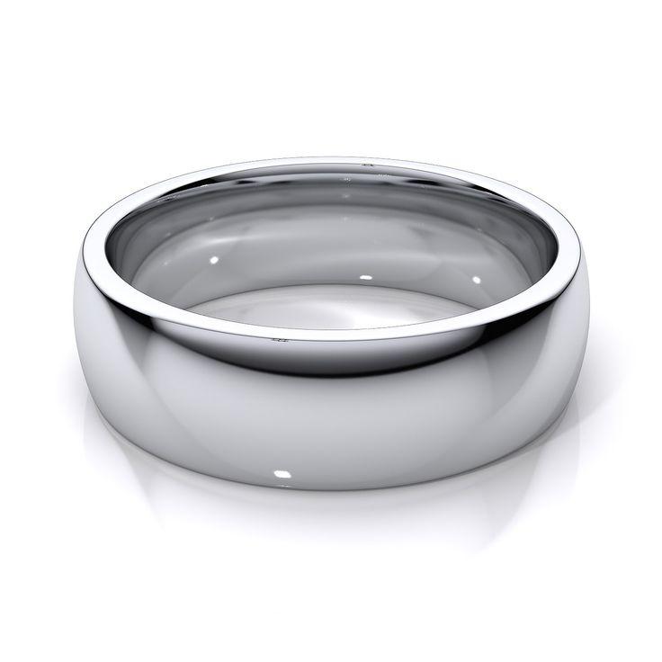 wedding rings for men white gold - Mens White Gold Wedding Rings