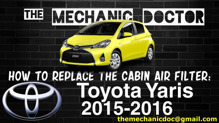 This video will show you step by step instructions on how to replace the cabin air filter on a Toyota Yaris 2015 - 2016.