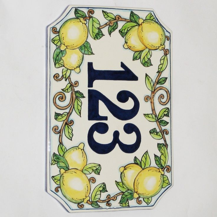 Decorative House Number Signs   Design Ideas
