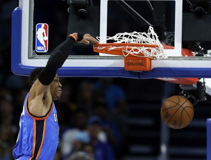 Russell Westbrook deposits two of his record 57 points against the Magic. (John Raoux/Associated Press)  Russell Westbrook staked his latest claim to front-runner status in the NBA's MVP race, submitting a record-breaking performance Wednesday against the Orlando Magic. The Thunder guard...  http://usa.swengen.com/russell-westbrook-has-record-57-point-triple-double-leads-thunder-to-biggest-comeback/