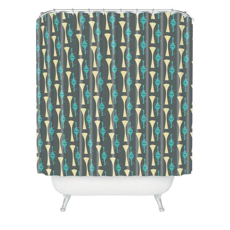 Caroline Okun Mid Century Cocktail Shower Curtain   DENY Designs Home Accessories