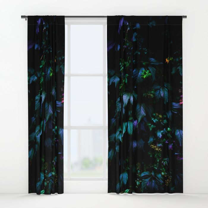 "Welcome to the Jungle Curtains. Our awesome Window Curtains transform a neglected essential into an awesome statement piece. They're crafted with 100% lightweight polyester, and thick enough to block out some light. Position the curtain rod into the 4"" pocket and you're good to go. All curtains are a single-sided print and measure 50"" x 84"". Available in single or double panel options. #forest #nature #jungle #floral #botanical #dark #magical #colorful #curtains #homedecor"