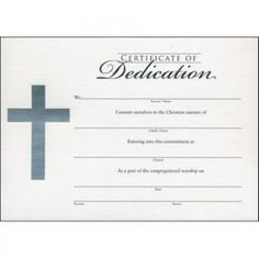 Child Dedication Certificate  Baby Dedication Certificates Templates