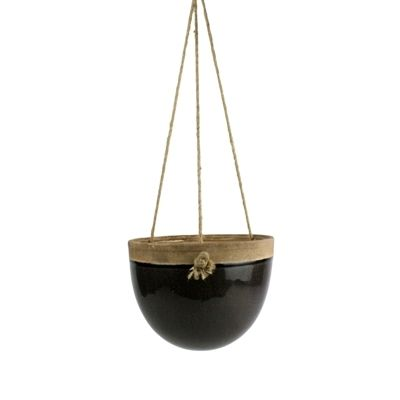 Click to shop home accessory by Hudson and Vine! Home decor for your farmhouse, vintage, lodge, or bohemian decorating style. // Mulberry Hanging Planter - Sm - Espresso