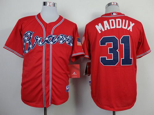 Atlanta Braves #31 Greg Maddux 2014 Red Jersey