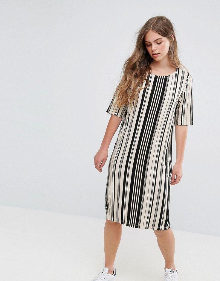 Pieces Damara Print Jersey Dress - Multi