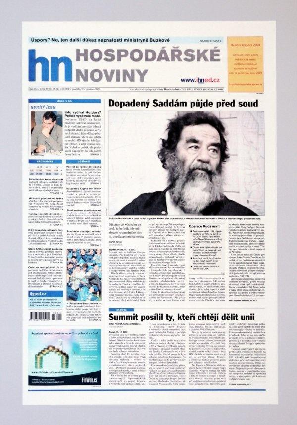 Dopadený Saddám Husajn půjde před soud