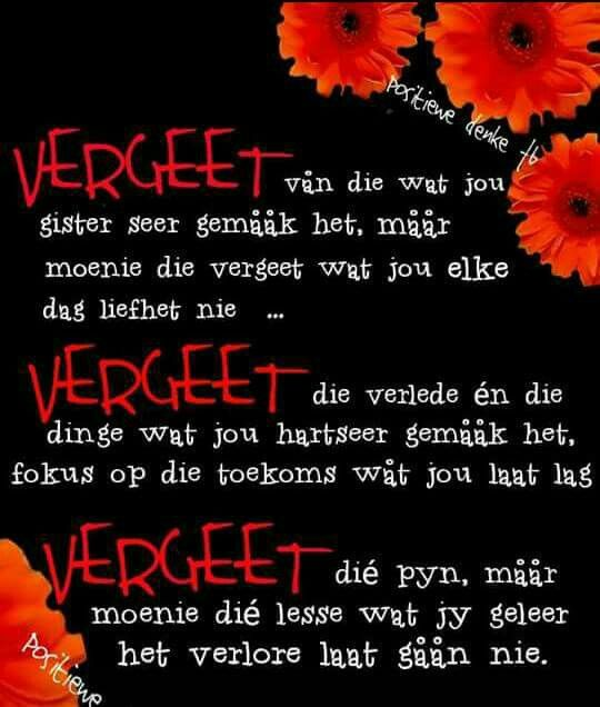 Vergeet x Onthou #Afrikaans