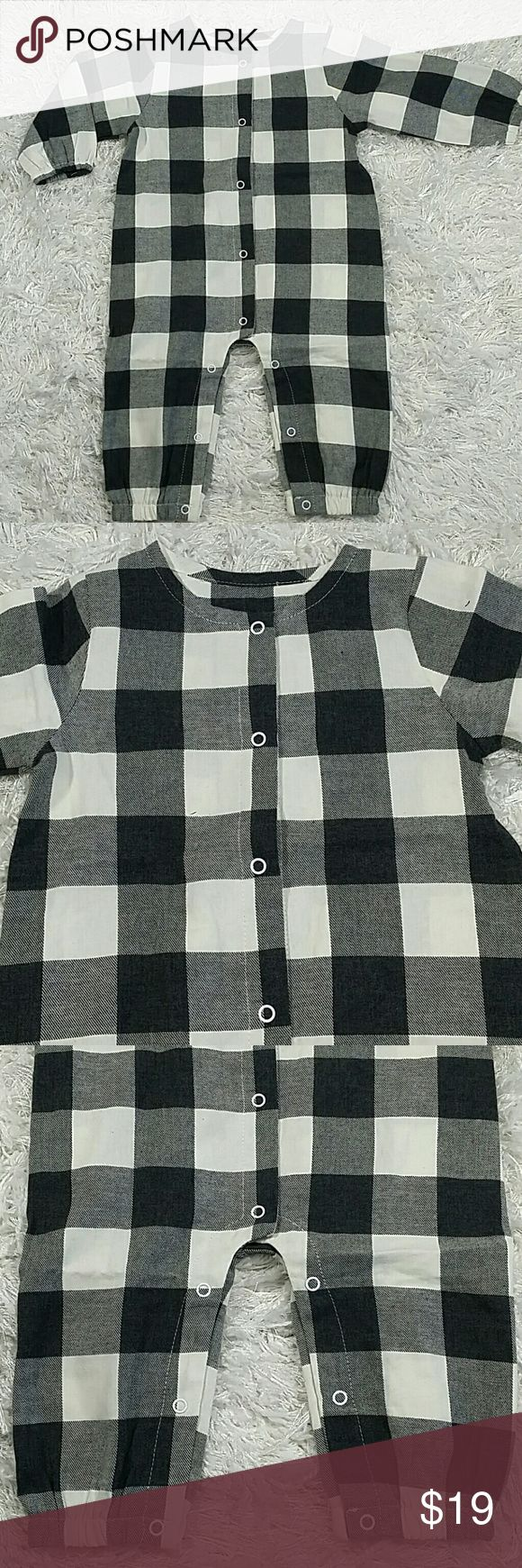black checker bodysuit kids adorable and comfortable bodysuit with black and white checkers design