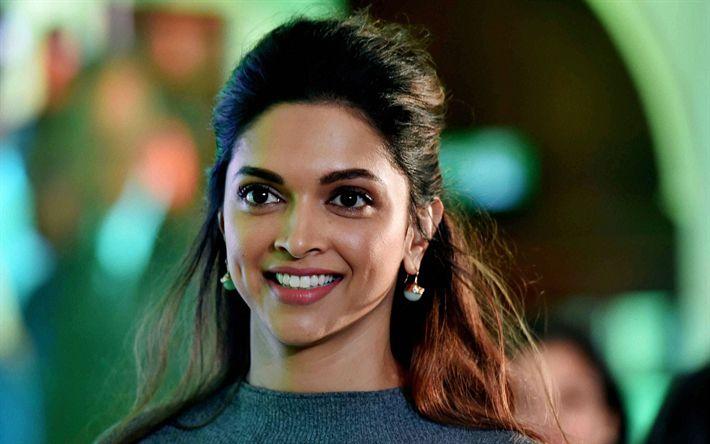 Hämta bilder Deepika Padukone, Indiska skådespelare, 4k, porträtt, leende, Indiska modellen, vacker kvinna, kända skådespelerskor