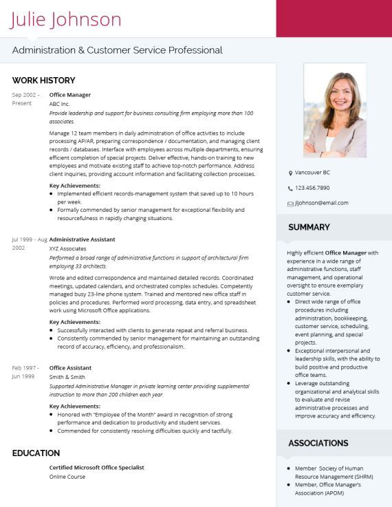 Cv Template Modern Cv Template Professional Resume Template Professional Cv Template Doc