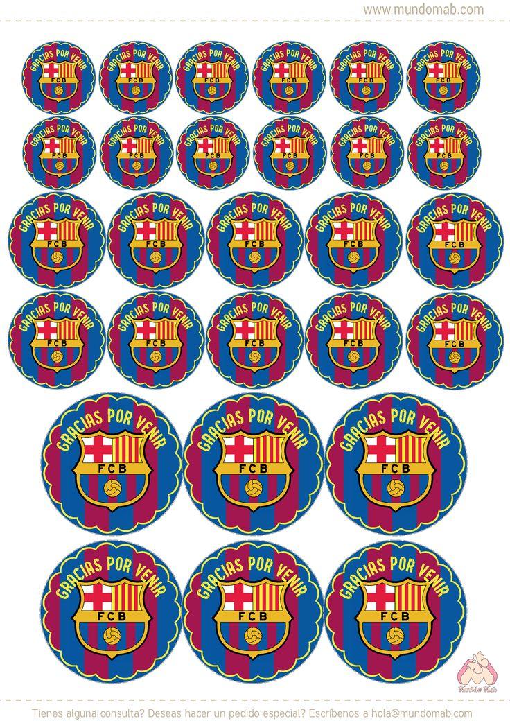 Resultado de imagen para topper de cumpleaños del barcelona