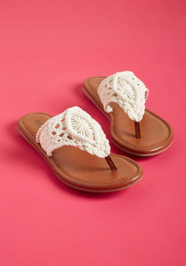 ModCloth Crocheting at Play Boho Sandal in 6   Boho sandals