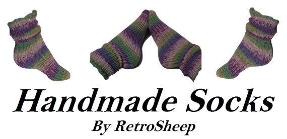 DIABETIC SOCKS Handmade Knitted Tube socks by RetroSheepknits