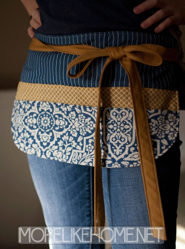 More Like Home: Craft Show Apron Tutorial