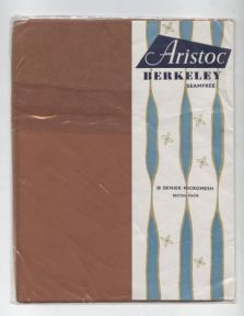 HTF Vintage Aristoc Berkeley 100% BriNylon British Nylon 30 Denier Stockings UK Shoe Sze 4 Coriander £10 #FollowVintage