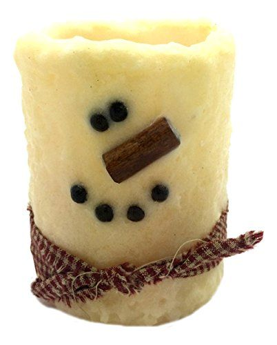 Star Hollow Candle Co Snowman Battery Timer Pillar Candle 3 x 4 Cream *** You can get more details by clicking on the image. #Candleholders