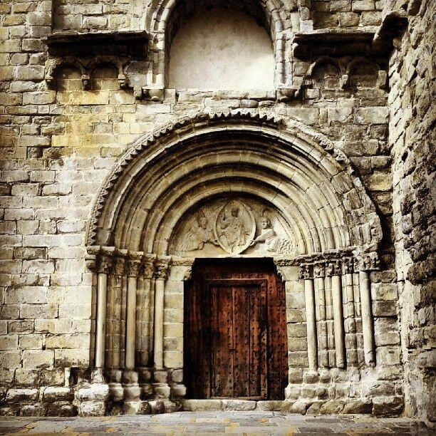 Romanic Church in Montañana. Ribagorza Huesca Aragon Pyrenees