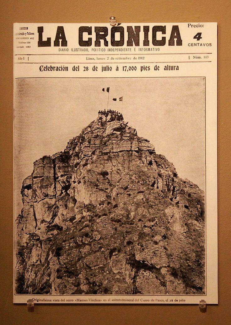Portada del diario La Crónica, setiembre de 1912.