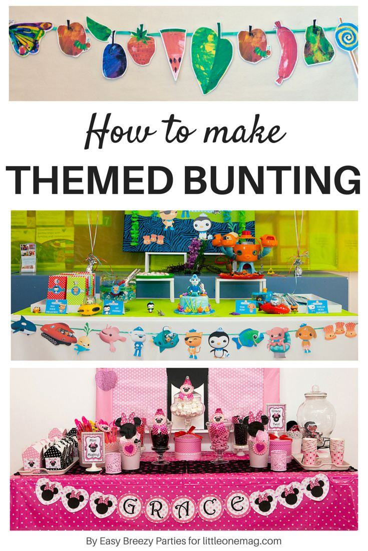 how to make your own themed bunting read it here https. Black Bedroom Furniture Sets. Home Design Ideas