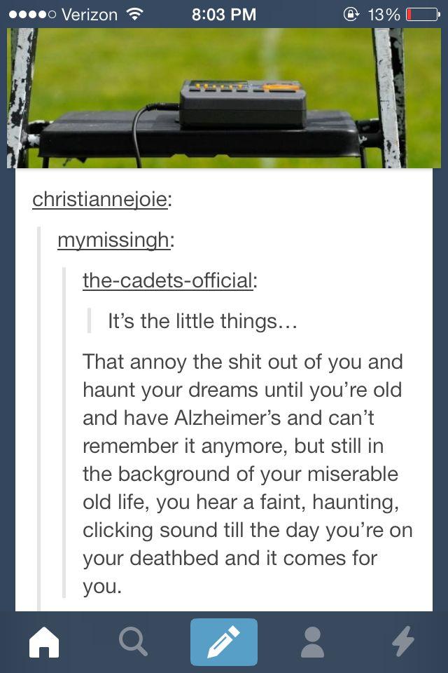 Haha oh the dreaded metronome...