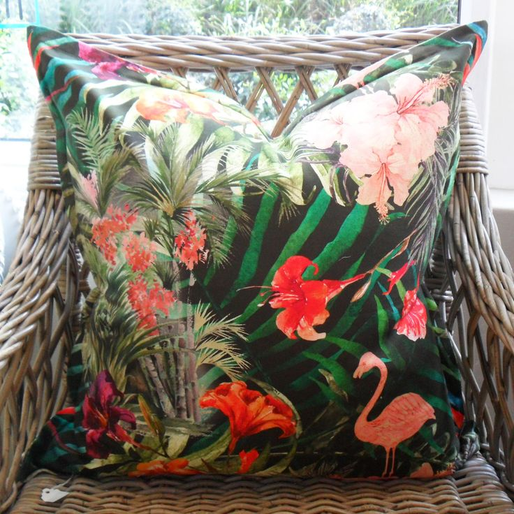 Flamingo - 60cm x 60cm - Inside Out Home Boutique - Available for order online at www.insideouthb.co.za