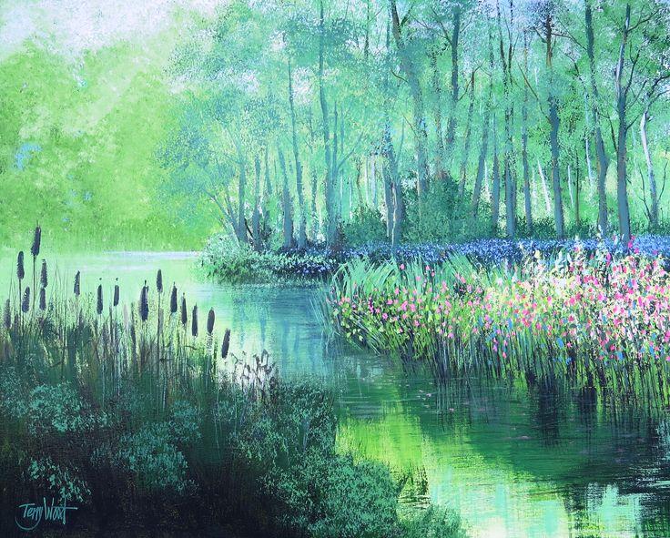 Misty Riverscene (61 x 76 cms) Acrylic on Canvas £180 + postage costs.