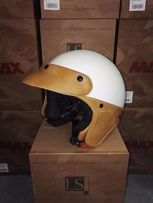 MAX LS Elegance Vintage Style Motorcycle Scooter Bike Helmet Open Face Retro