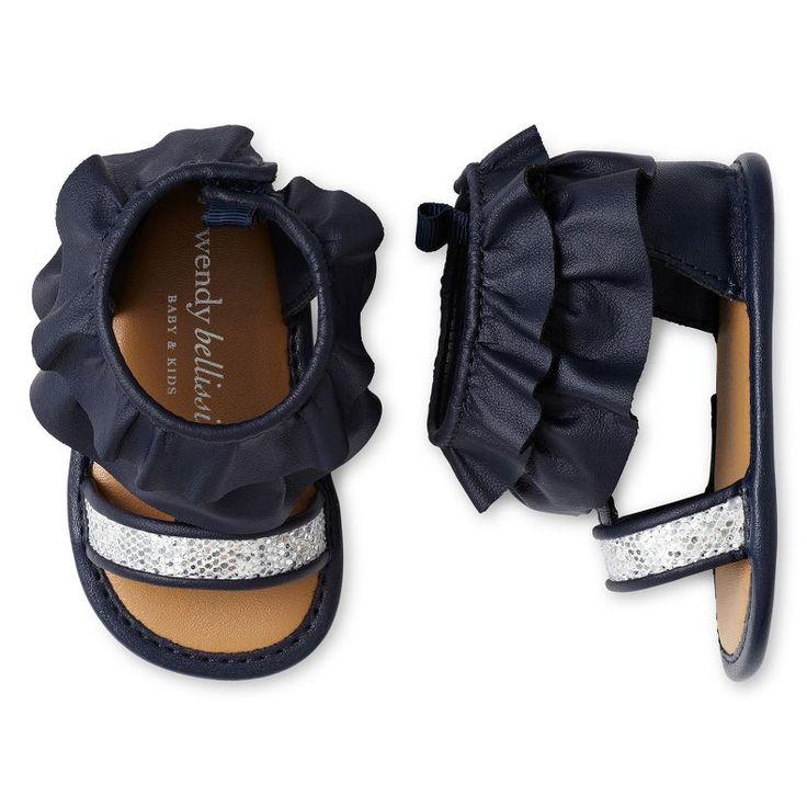 jcpenney - Wendy Bellissimo Infant Girls Isabella Navy Glitter Sandals - jcpenney