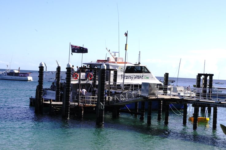 The Fitzroy Island Ferry. It does three trips a day between Cairns and Fitzroy Island.