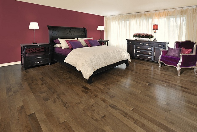purple bedroom. comfy. comforters. decor. maroon. style. | home
