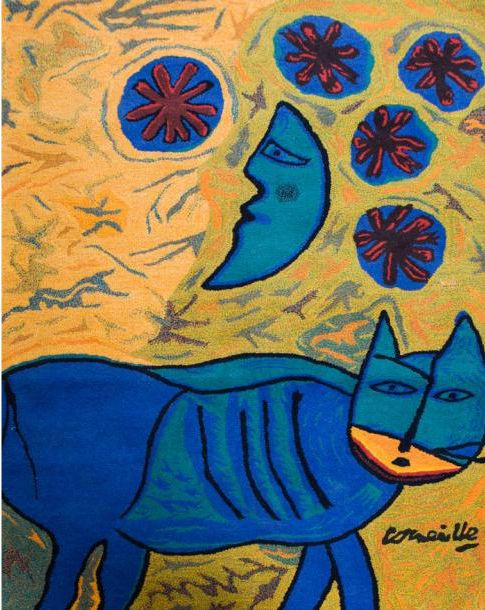 Corneille Guillaume Beverloo (Bélgica/Alemania, 1922-2010). Cat, Moon and Star.