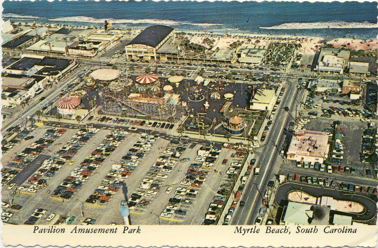 Pavilion Amusement Park, card postmarked 1970. The Galaxi