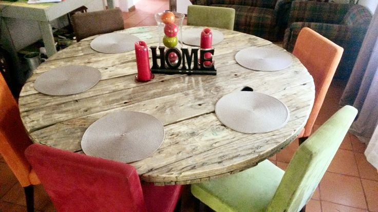 DIY Round Shaped Pallet Dining #Table   Pallet Furniture