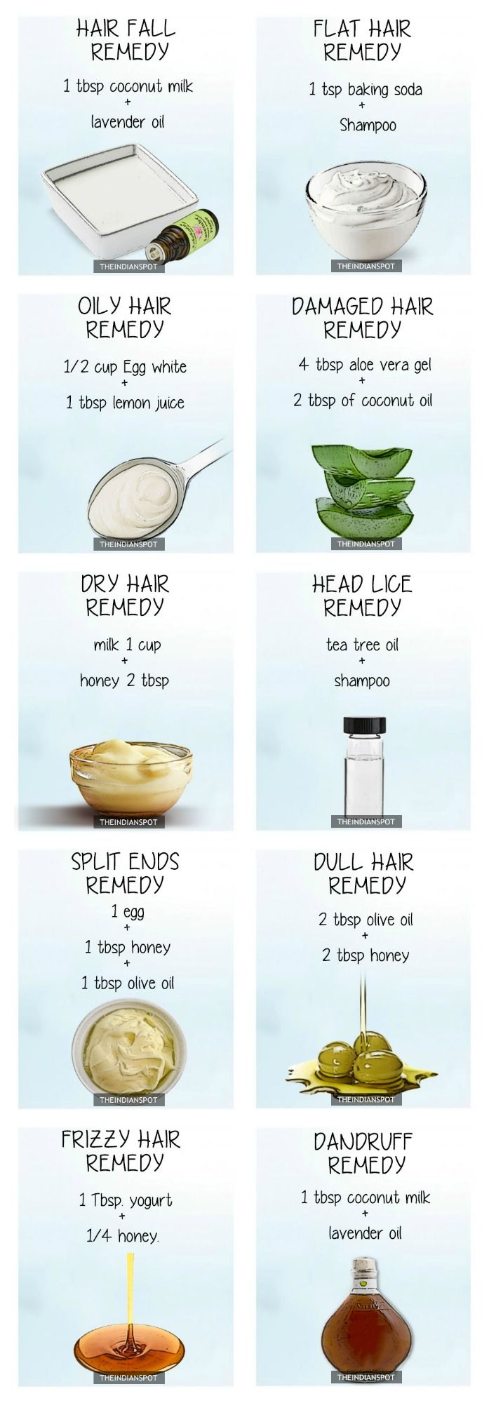 TOP 10 NATURAL REMEDIES FOR EVERY HAIR PROBLEM