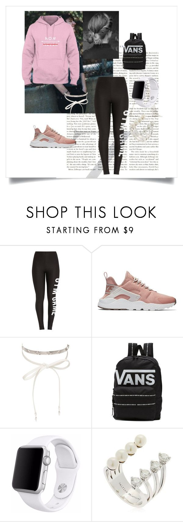 """""""New Coloring"""" by emiko-lexi on Polyvore featuring NIKE, nOir, Vans, Apple and Delfina Delettrez"""