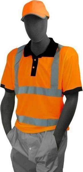 Majestic 75-5312 Hi Vis Orange Polo Shirt ANSI Class 3