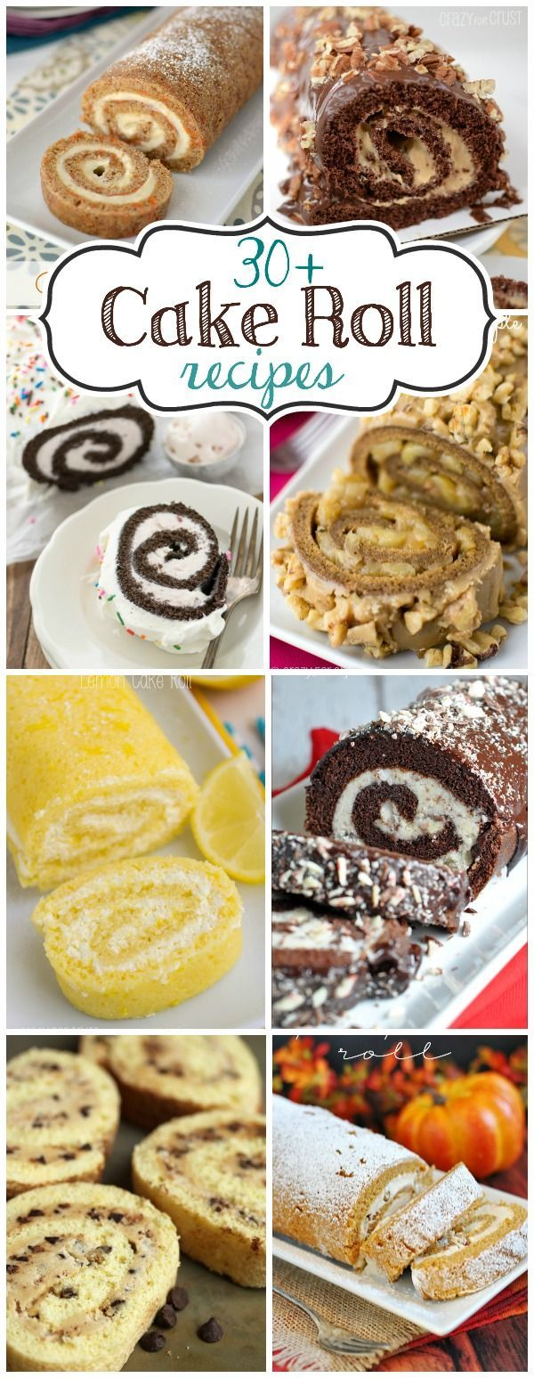 roulade jelly roll cake cake roll Over 30 Cake Roll Recipes, perfect for any occasion!