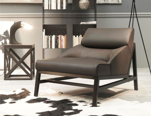 Nella Vetrina Italian Designer Lounge Chair Handmade And Shown Upholstery  In Dark Chocolate Smooth Leather. This Luxury Italian Furniture Collection  ...