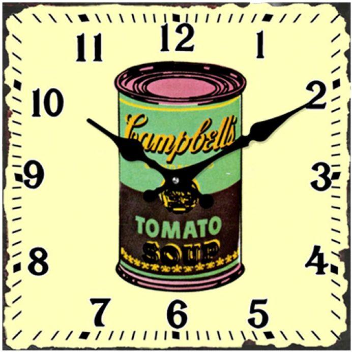 Relógio Campbells Tomato retro