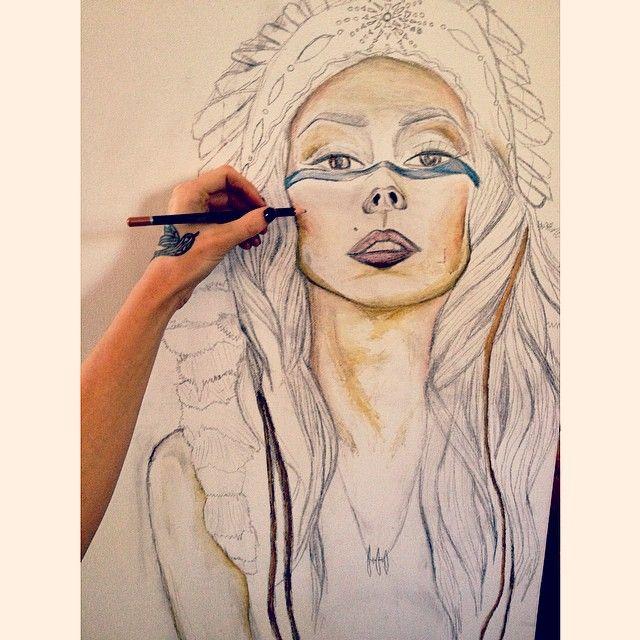 Work in Progress. #boho #nativeamerican #native #art #artist #alluramaison #watercolor #drawing #sketch