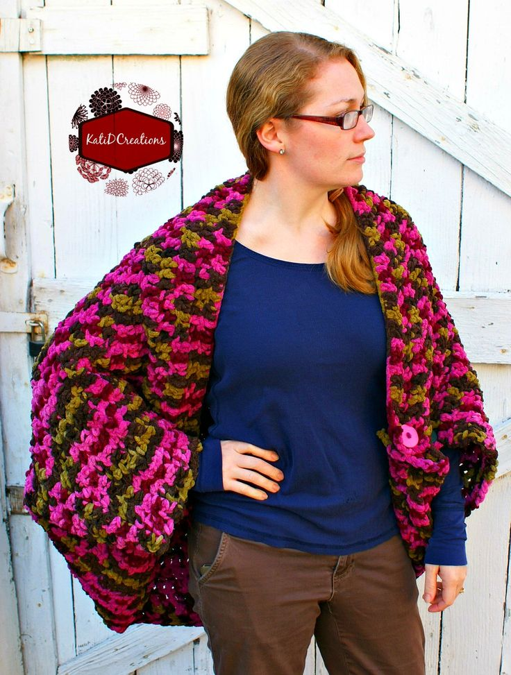 Free Crochet Pattern: Jacket + Blanket = Janket!  What A Smart Idea When You Read How It Is Constructed!