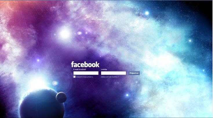 Minimalistic !!! FB login !!! GALAXY !!! - Themes and Skins for Facebook - userstyles.org